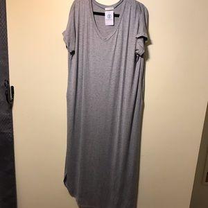NWT Reborn J maxi gray dress
